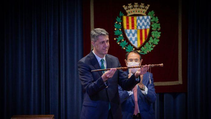 El alcalde de Badalona, Xavier García Albiol, en su toma de posesión.