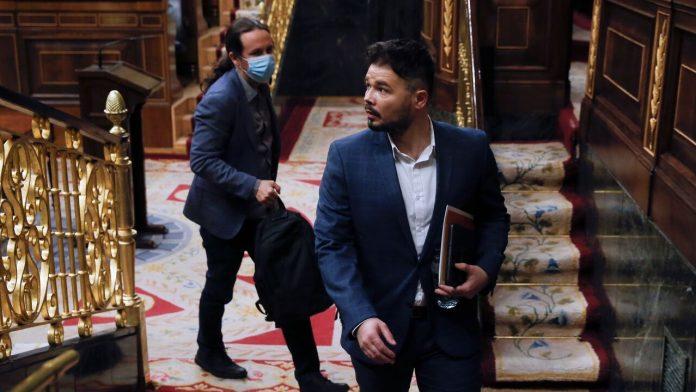 Gabriel Rufián y Pablo Iglesias