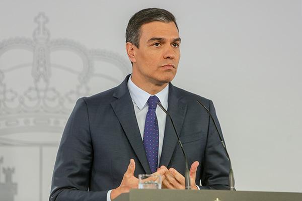 Pedro Sánchez, presidente del Gobierno, durante la rueda de prensa del sábado. Foto: Europa Press.