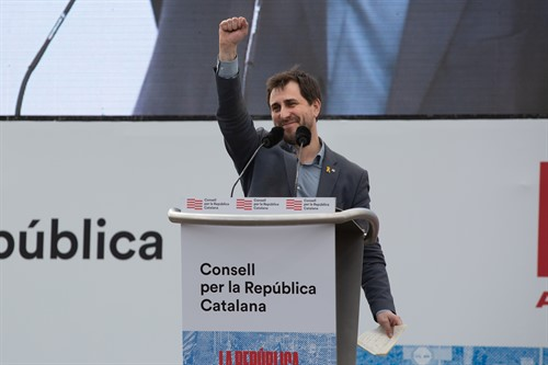 Toni Comín en un acto del Consell per la República de Carles Puigdemont.