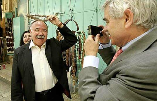 Josep Lluís Carod Rovira junto a Pasqual Maragall en una de sus escenas más controvertidas.