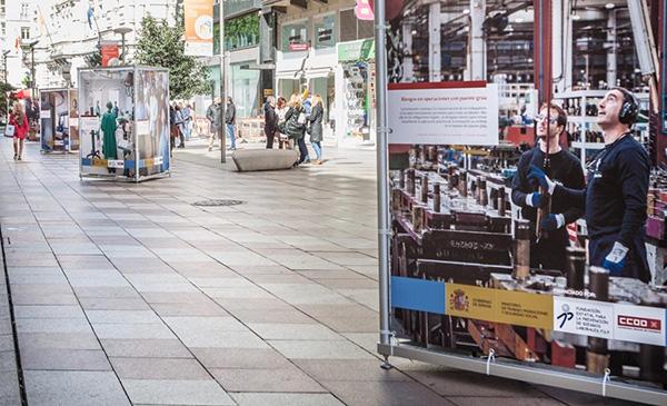 Vista de una exposición reciente sobre seguridad en el trabajo. Foto: Europa Press.