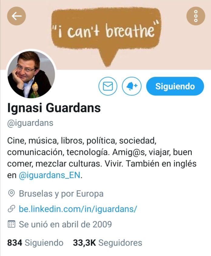 Vista del perfil de Ignasi Guardans en Twitter.