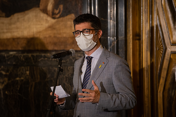 Jordi Puigneró, conseller de Polítiques Digitals i Administració Pública de la Generalitat de Catalunya. Foto: Europa Press.