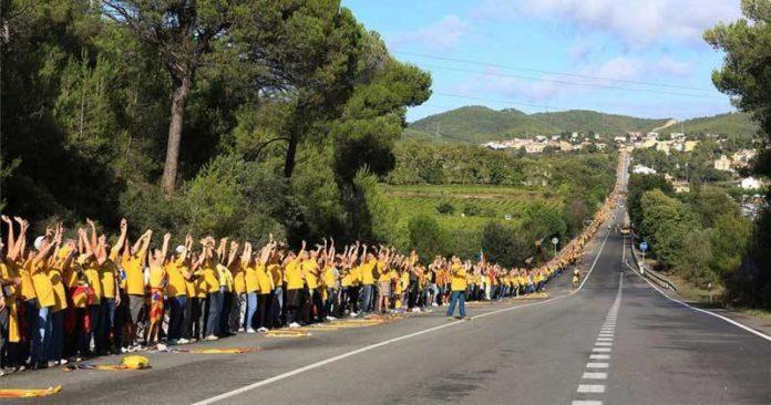 Una de las primeras manifestaciones independentistas organizadas por la ANC.