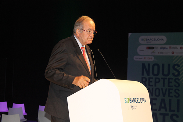 Josep González, presidente de PIMEC, durante la charla.