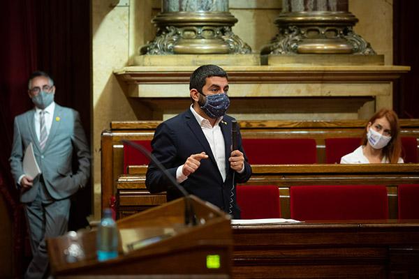 El conseller de Trabajo, Asuntos Sociales y Familias de la Generalitat de Cataluña, Chakir El Homrani,. Foto: Europa Press.