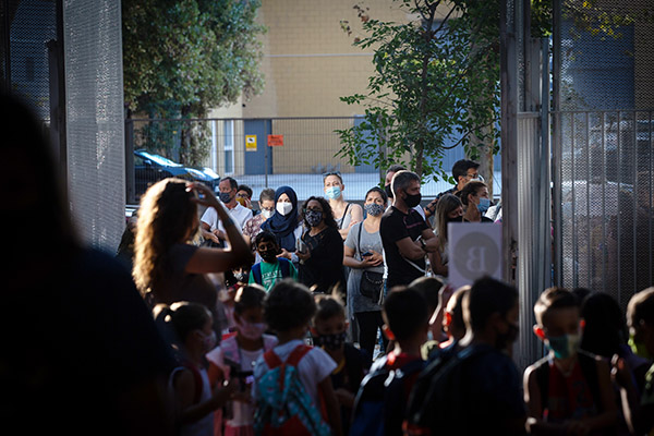 Inicio del curso en un colegio de Barcelona. Foto: Europa Press.