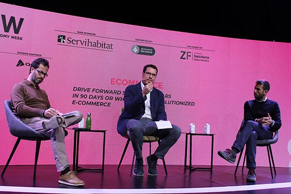 Enric Jové, CEO de Mc Cann Barcelona; Jordi Aguasca, director de Acció - Startup Catalunya y Jaume Gomà, CEO de Ulabox.