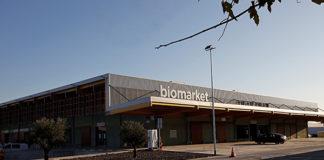 Vista exterior de Biomarket, el mercado ecológico de Mercabarna. Foto: Mercabarna.