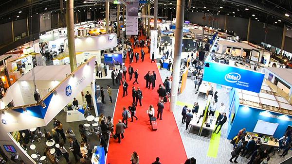 Vista desde arriba del IOT Solutions World Congress presencial de ediciones anteriores. Foto: Fira de Barcelona.