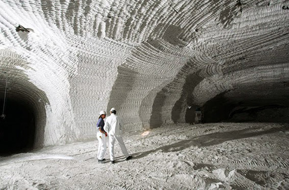 Mina de sal de Iberpotash. Foto: UGT-Fica.