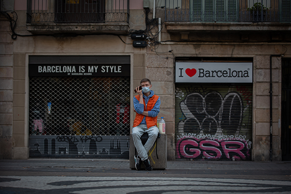 Comercios cerrados en la Rambla de Barcelona. Foto: Europa Press.