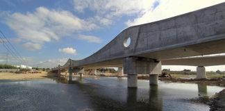 Vista del puente de la Tordera, por el que pasará el tren Malgrat-Blanes a partir del día 9. Foto: Ayuntamiento de Blanes.