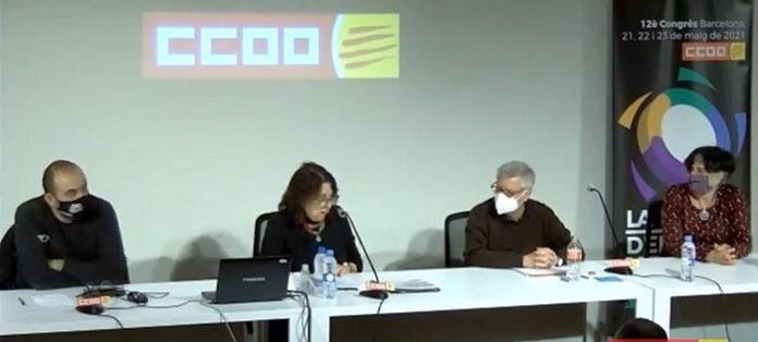 De izquierda a derecha: Javier Pacheco; Mercedes García Aran; Alfons Labrador y Dolors Llobet.