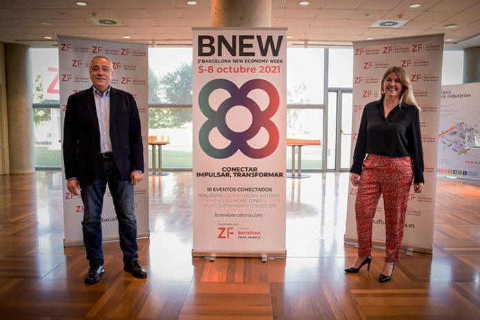 Pere Navarro y Blanca Sorigué,, durante la presentación de esta mañana. Foto: El Consorci.