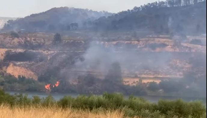 El incendio, que ha durado una semana, ha quedado más de 70 hectáreas. Foto: YouTube..