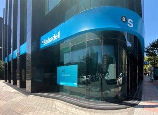 Edificio de la sede del Banco Sabadell en Madrid Foto: Europa Press.