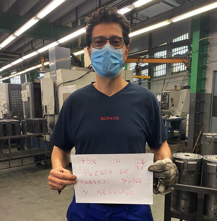Los trabajadores denuncian que la empresa aún no les ha pagado varias nóminas. Foto: twitter CCOO.