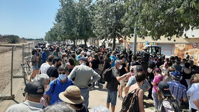 Manifestación reciente contra la ampliación del Prat. Foto: Europa Press.