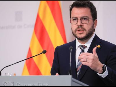 El presidente de la Generalitat ha anunciado el regreso a la normalidad en Cataluña esta tarde. Foto: Europa Press.