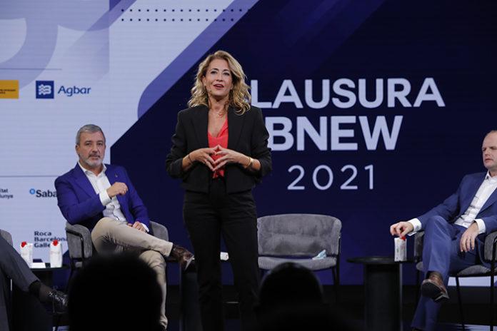 La ministra de Transportes, Movilidad y Agenda Urbana, Raquel Sánchez, durante la clausura de BNEW 2021. Foto: el Consorci.